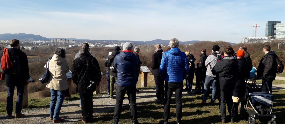 Spaziergang am Wienerberg mit Förster Uwe Skacel, Februar 2020